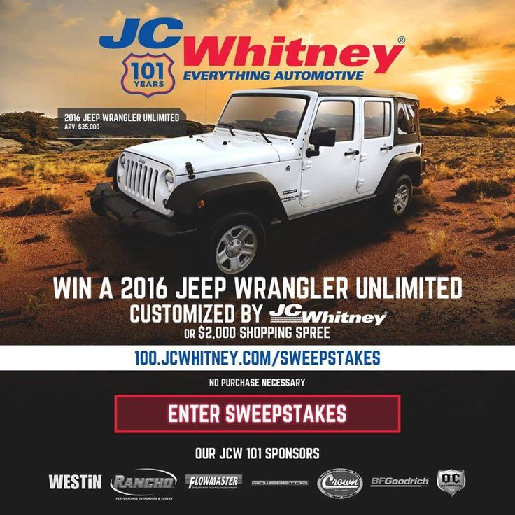 84 best JC Whitney 101 Sweepstakes images on Pinterest