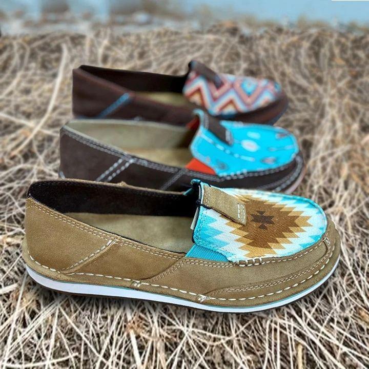 Women's Rainbow Colorblock Loafers in