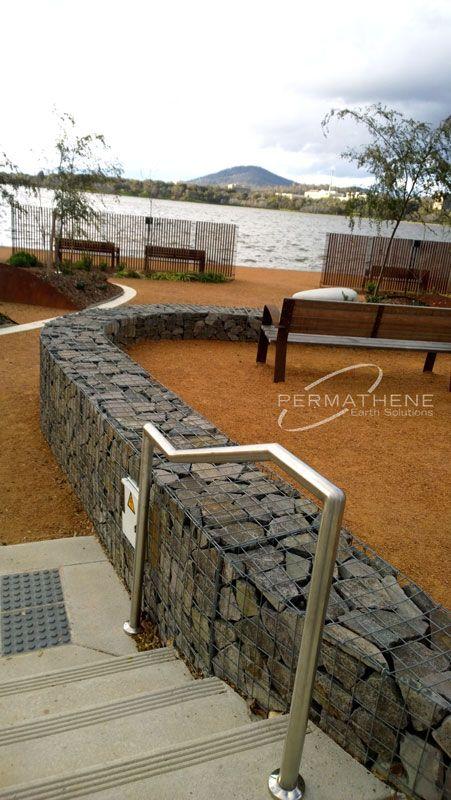 permathene.com.au Gallery (Gabions) Canberra - Kingston Foreshore : Permathene Australia, Landscaping and Environmental