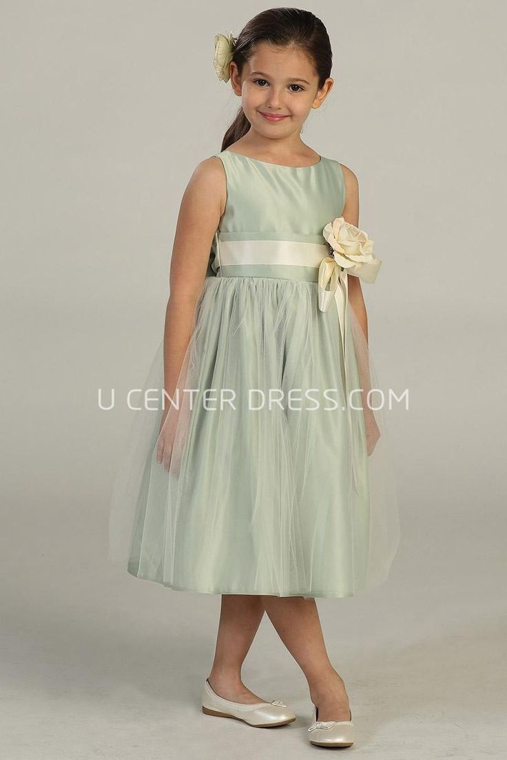 75 best junior bridesmaid dress images on pinterest junior 7007 lovely tea length tiered tulle satin green long junior bridesmaid dress http ombrellifo Choice Image
