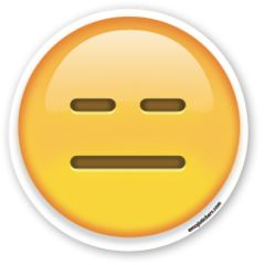 Expressionless Face | Emoji Stickers
