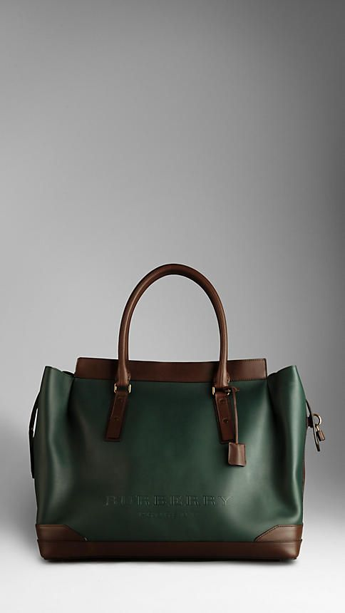 Burberry Men's Leather Tote - a perfect physician's bag.