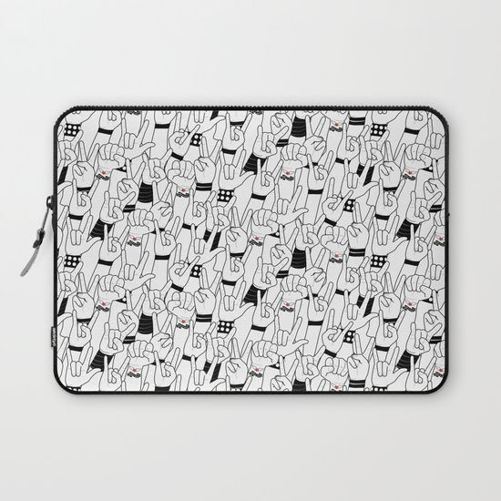 Protect your laptop with a unique Society6 Laptop Sleeve. Our form fitting, lightweight sleeves are created with high quality polyester - optimal for vibrant color absorption. The design is printed on both sides to fully showcase the artwork while keeping your gear protected. Pulling back the YKK zipper, you'll find the interior is fully lined with super soft, scratch resistant micro-fiber. #music #love #rock #concert #crowd #mia #society6 #laptop #Sleeve