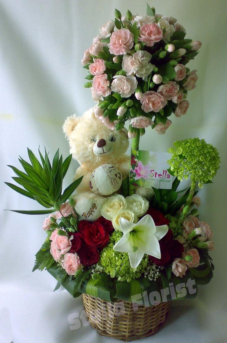 Teddy Bear mix with Flower, sweet...  #Flower