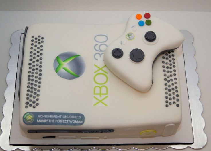 Xbox 360 Cake Fun XBOX 360 for a groom's cake!everything handcrafted and edible :)