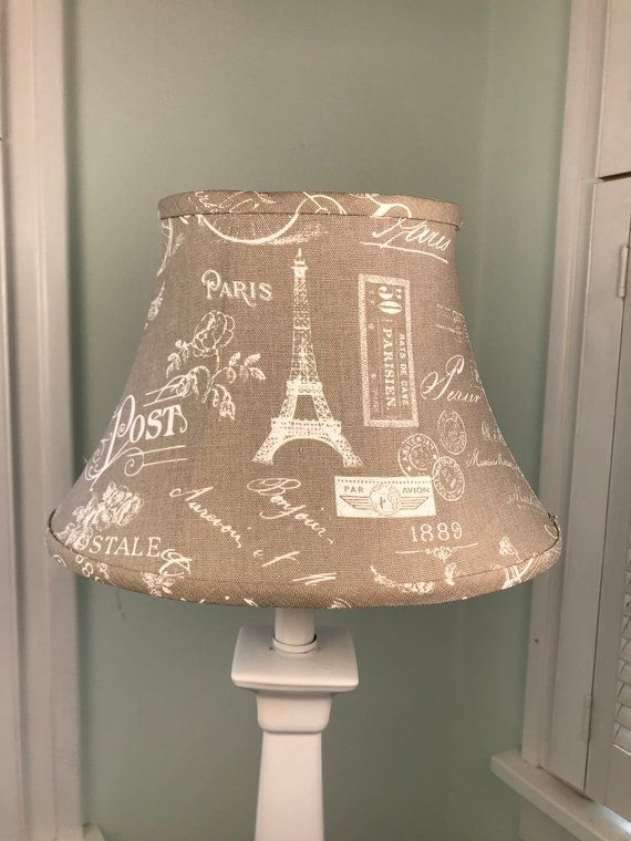 Eiffel Tower Lamp Shade French Lamp Shade French Country Lamp