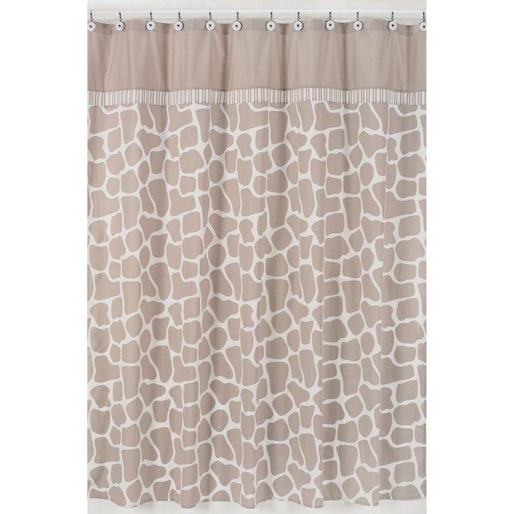 Giraffe Neutral Shower Curtain