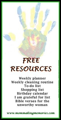 I love lists! Making lists... ticking off lists... writing lists... This is why you will get free access to all the lists I use and more resources here.