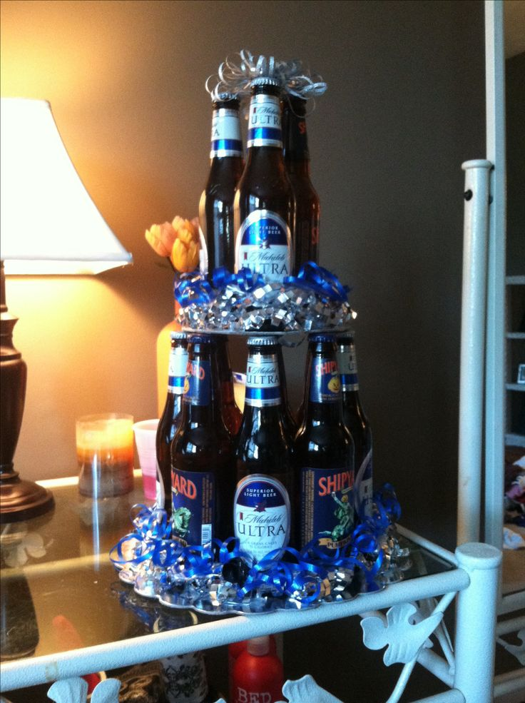 Beer bottle cake I made for Matt's birthday !