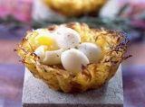 Aardappelnestjes met kwartelei