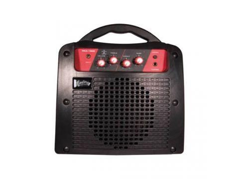 Monterey 15 Watt DC Guitar Amplifier features built-in 12v rechargeable battery.
