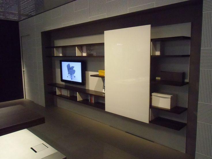 Librería de oficina modular de madera BOISERIE by ESTEL GROUP