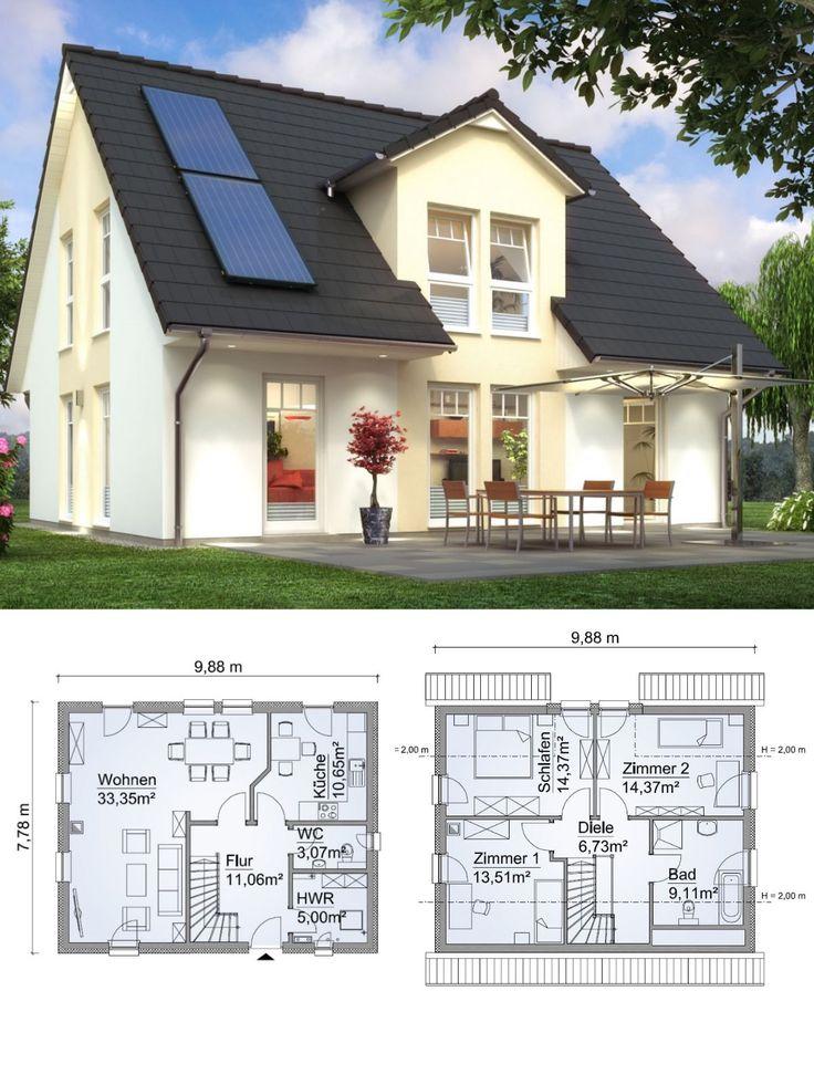 einfamilienhaus neubau im landhausstil mit satteldach architektur zwerchgiebel haus bauen. Black Bedroom Furniture Sets. Home Design Ideas