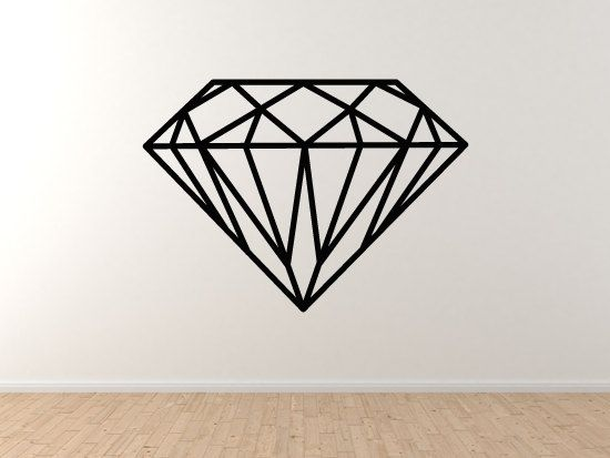 diamond design 4 jewellery decoration mineral fractal wall vinyl decal home decor diamond. Black Bedroom Furniture Sets. Home Design Ideas