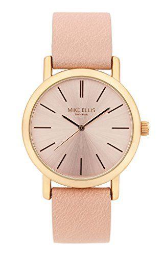 Mike Ellis New York Damen-Armbanduhr Sammi Analog Quarz Kunstleder SL2979A6 - http://uhr.haus/mike-ellis-new-york/mike-ellis-new-york-damen-armbanduhr-sammi-analog