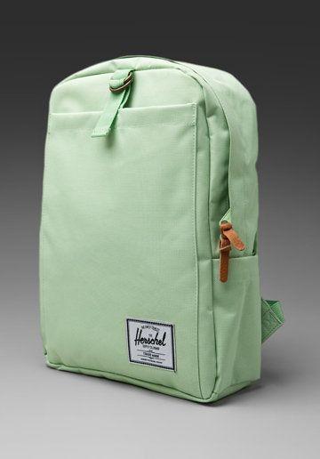 Mint green Herschel Supply backpack