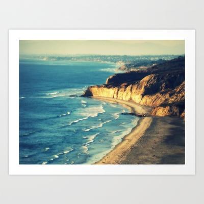La Jolla Cliffs Art Print by Travis Davis - $14.56