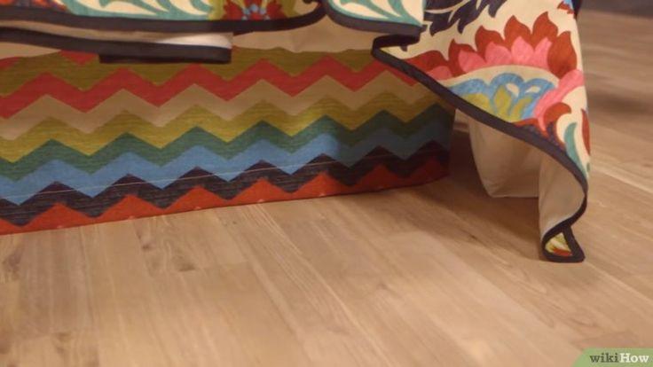 Cómo hacer un faldón para cama: 12 pasos (con fotos)