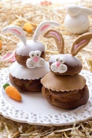 Les jolies créations dénichées sur Pinterest En lapins très choux, coquilles d'œufs, sucettes, couronnes ou tartes, les desserts s'inspirent de Pâques pour régaler petits et grands gourmands.