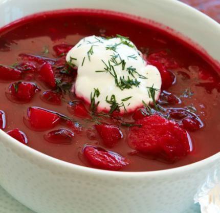 Borsch - Ukrainian beet soup