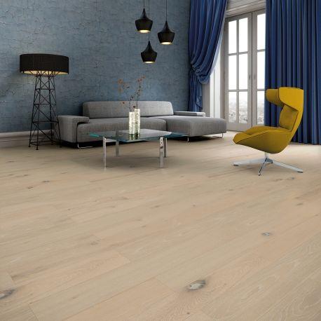 Baltic Wood, The Miracles Collection - Wisdom. Podłoga dębowa z wyraźnie zaznaczoną strukturą w wyniku procesu szczotkowania. #interior #balticwood