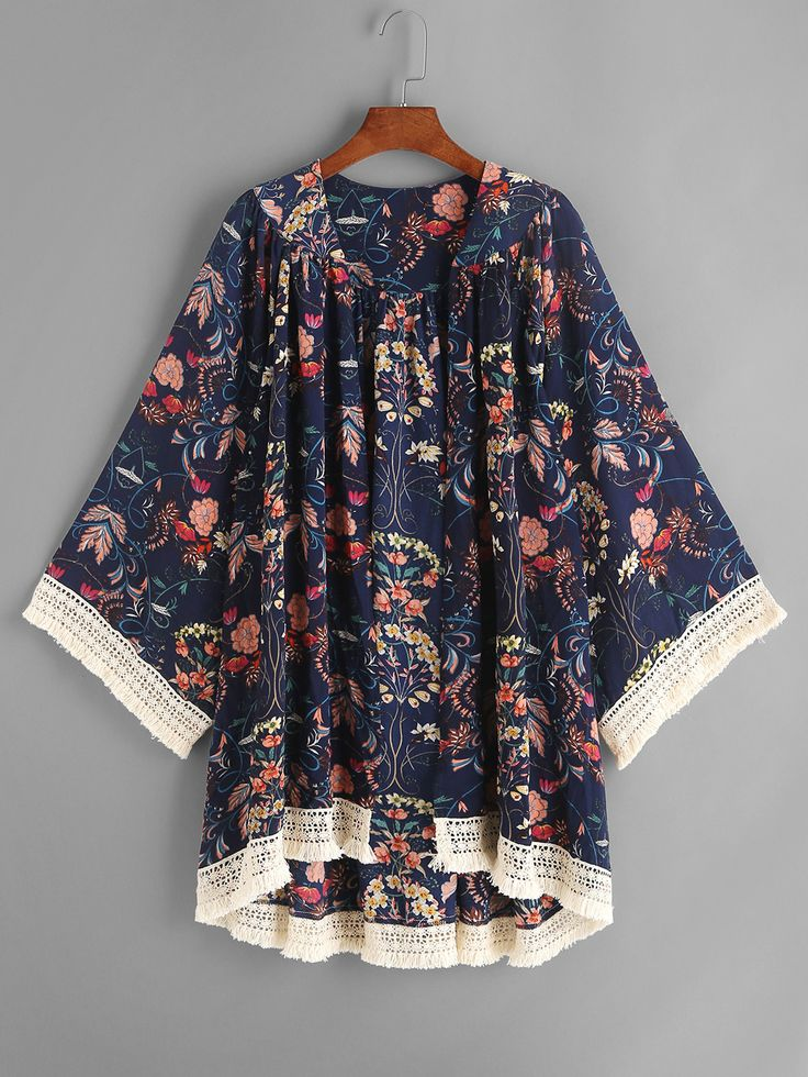 Shop Calico Print Lace Trim Kimono online. SheIn offers Calico Print Lace Trim Kimono & more to fit your fashionable needs.