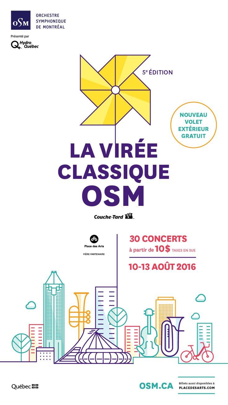 LA VIRÉE CLASSIQUE OSM À LA PLACE DES ARTS. 10 au 13 août 2016. La Neuvième Symphonie de Beethoven, Boléro de Ravel, Vivaldi, Brahms et plusieurs autres compositeurs à redécouvrir.