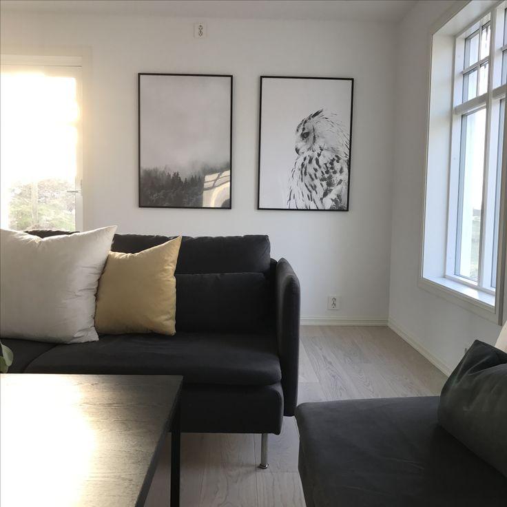 Desenio ugle skog söderhamn sofa IKEA bohus stue eik
