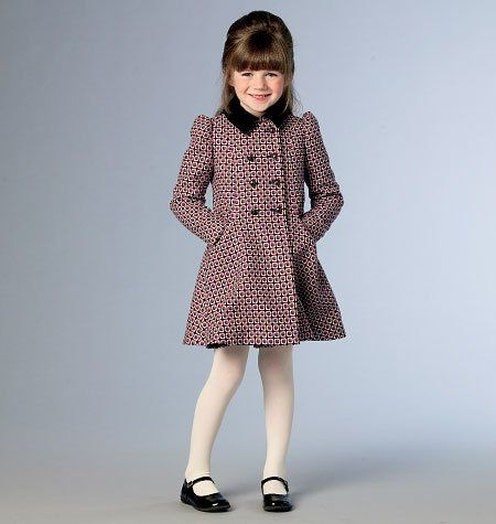 0f612341523 Vogue Patterns Children s Girls  Jacket and Coat 9043 CHILDREN S GIRLS   JACKET AND COAT  Lined fitted jacket or coat (slightly flared) has collar  variations ...