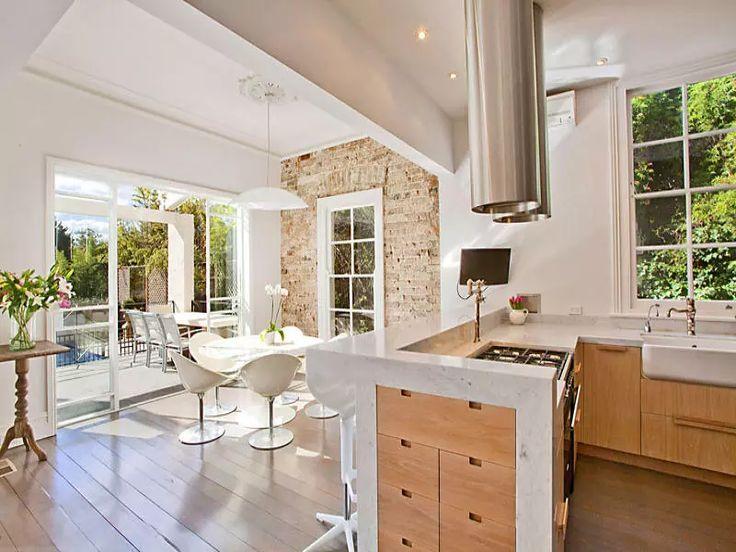 296 best spazio cucina images on pinterest   kitchen ideas ... - Cucine Muratura Marmo