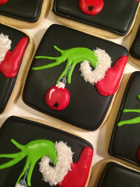 """How The Grinch Stole Christmas"" Decorated Iced Cookies 