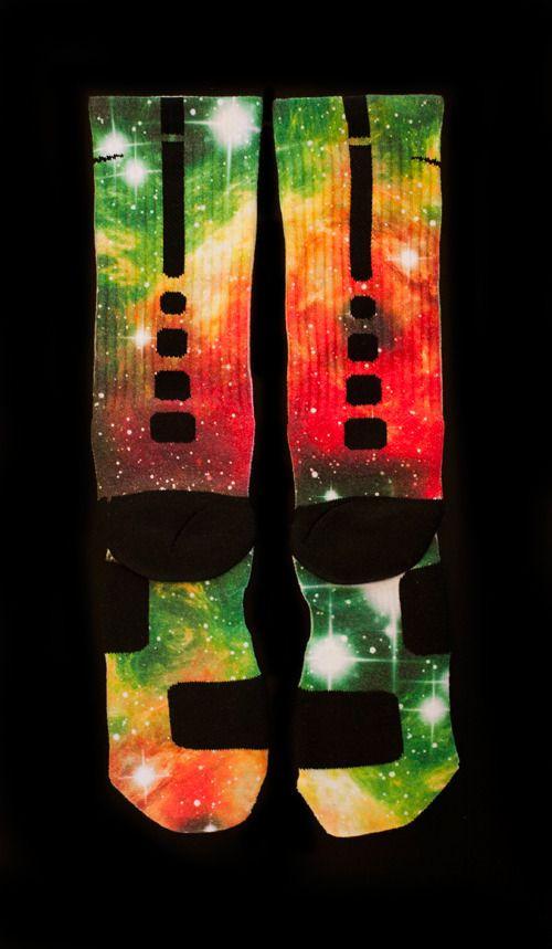 Christmas Galaxy Elites - Custom Nike Elite Socks