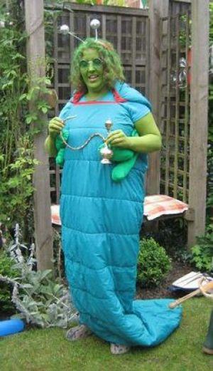 Alice in Wonderland Catepillar Homemade Costume Idea #Homemade Halloween Costume Ideas #Halloween #Costumes