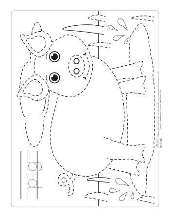 Farm Animals Tracing Coloring Pages Farm animal coloring