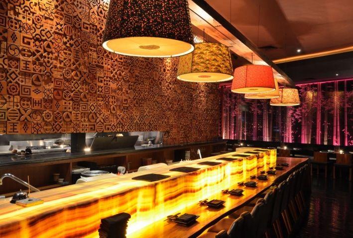 Backlit Quartz Countertops Bar Counter Design Kitchen