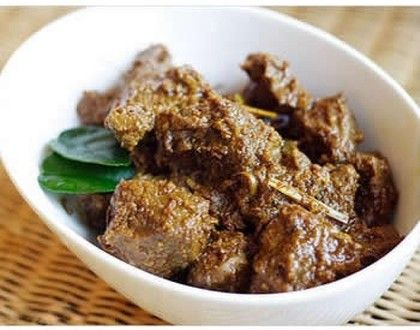 Sticky, scrummy. Rick Stein Beef Rendang recipe.