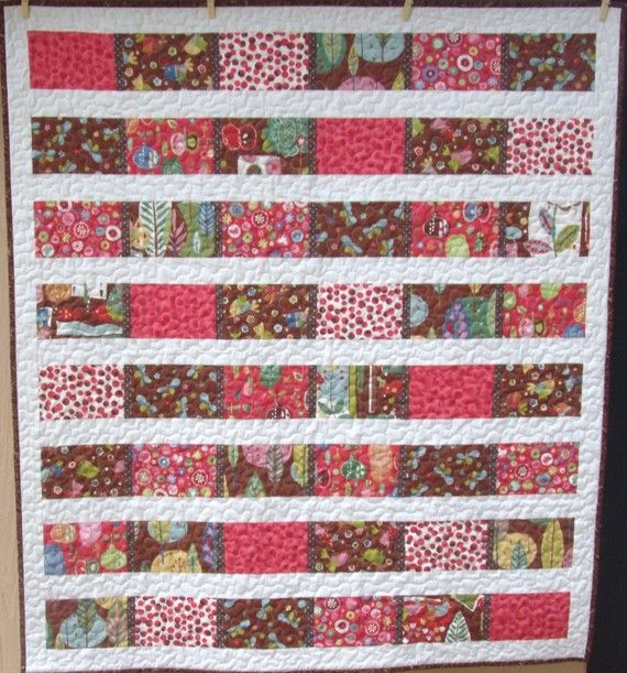 Chocolate Covered Cherries Quilt make this with half layer cake squares