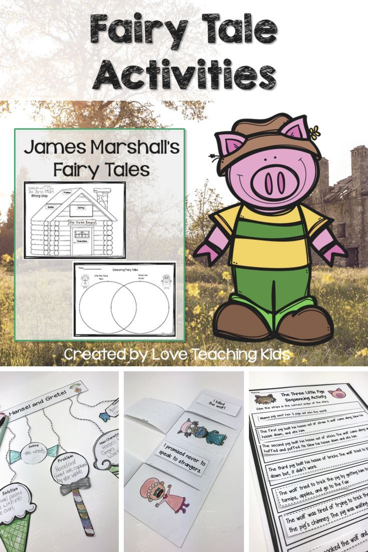 This Fairy Tale Reading And Writing Unit Is A Fun Way To Compare James Marshall S Favorite Books Red Riding H Writing Activities Fairytale Lessons Fairy Tales