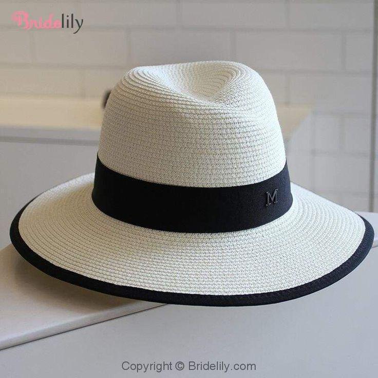 Fashion M Letter Straw Large Brim Beach/Sun Hats   Bridelily – Beach/Sun Hats