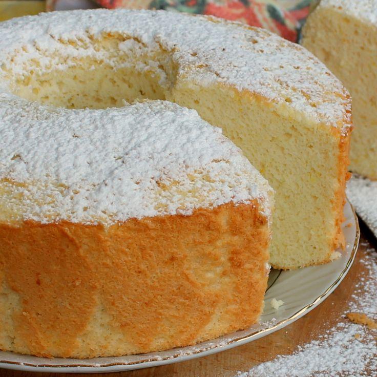 Angel cake arancia e vaniglia