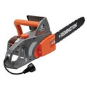 """Remington (16"""") 12-Amp Electric Chain Saw. Electric saws are convenient- no gas and oil to mix, just plug them in and get busy.     This saw will do a fine job on an ornery shrub or small tree; but if you want to do some serious work on your wood pile you will want to consider our Better or Best ranked saw."""