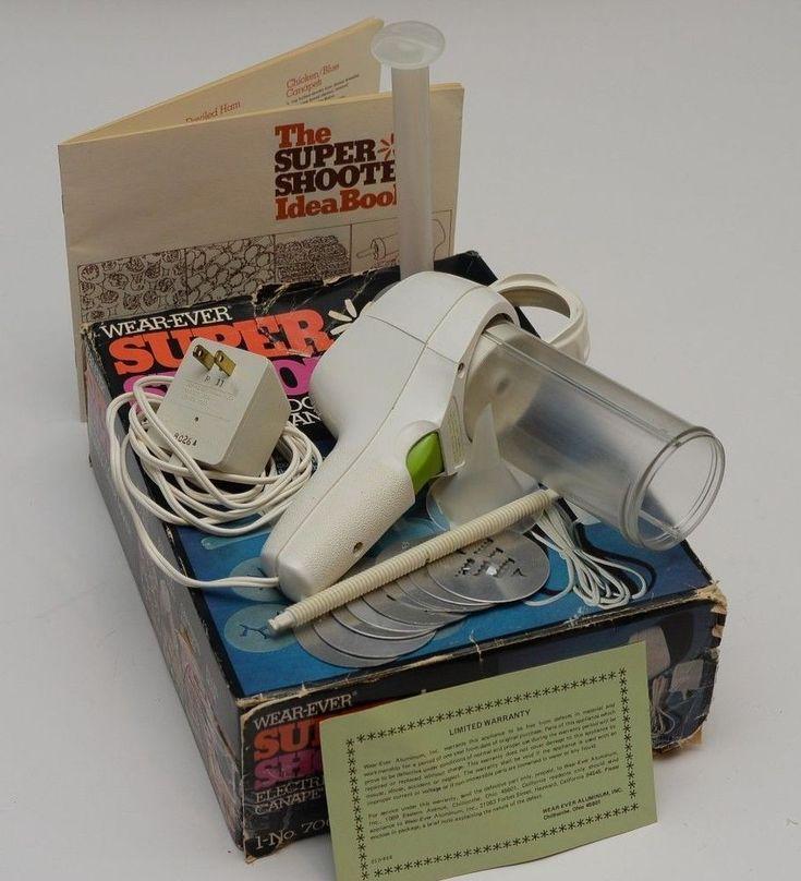Wear Ever Electric Super Shooter Cookie Press Candy Maker  USA Vintage Works #WearEverSuperShooter