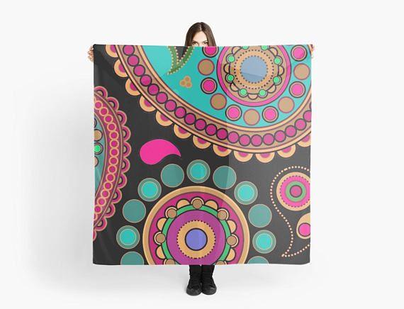 Scarf Fun paysley scarf/wrap Foulard carré 140 cm motif