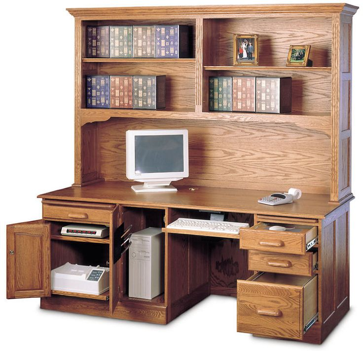 12 Awesome Solid Oak Computer Desk With Hutch Photograph Ideas