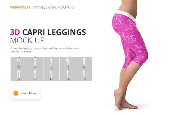 Capri Leggings Mock Up Mockup Capri Leggings Mocking