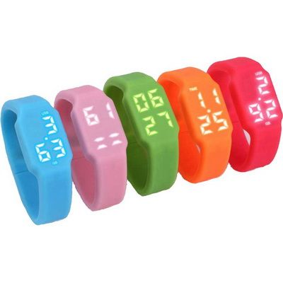 Image of Promotional Silicon Watch With Combined USB Stick. Printed USB Wrist Watch