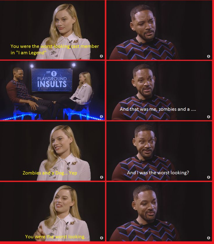 Margot Robbie insulting Will Smith   http://ift.tt/2bb9J4o via /r/funny http://ift.tt/2b3tTf6  funny pictures