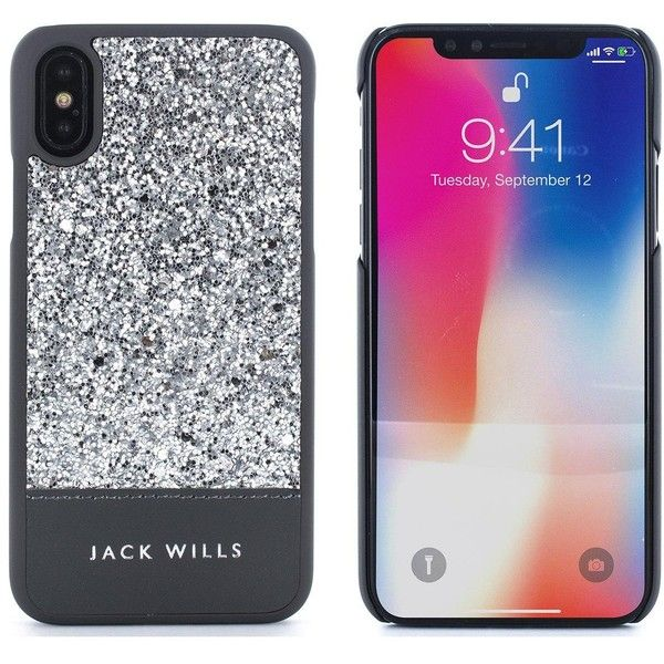 timeless design d2ddc 36540 Jack Wills Apple Iphone X Glitter Inlay, Wray, Silver ($27) ❤ liked ...