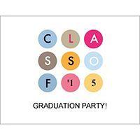 Free Avery® Templates - Graduation Class of 2015 Postcard - Wide, 4 per sheet