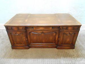 Romweber Viking Oak Carved Executive Desk